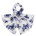 Etole pur soie motif floral